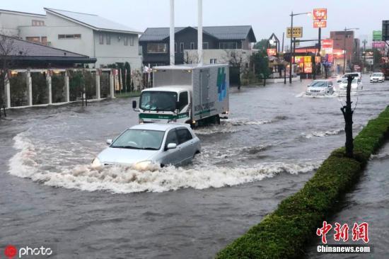 日本千叶县暴雨成灾水漫街道 已致至少9人死亡