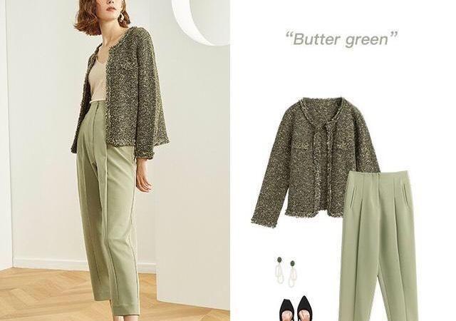 绿色是今年的流行色,引领潮流的穿搭,好想拥有一套!