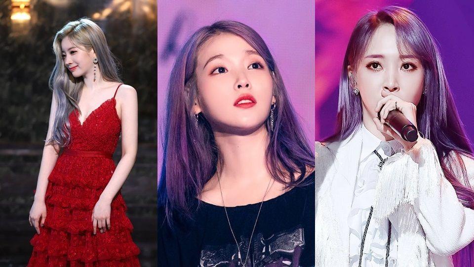 2019潮流时尚的雾灰紫发色推荐