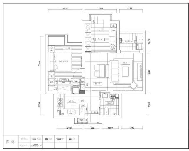 80平现代简约两居室,黑白灰基调不失家的温馨,展现时尚与酷帅
