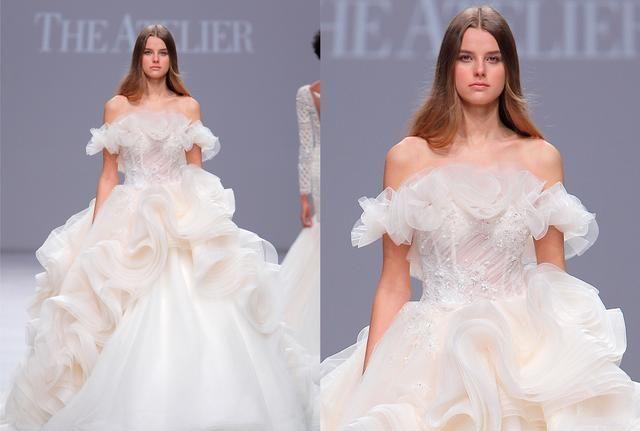 The Atelier唯美高定礼服,将水晶鞋缝制在婚纱上,无比梦幻璀璨