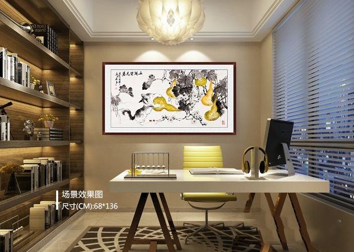 书房装饰挂花鸟画 现代潮流家居装饰