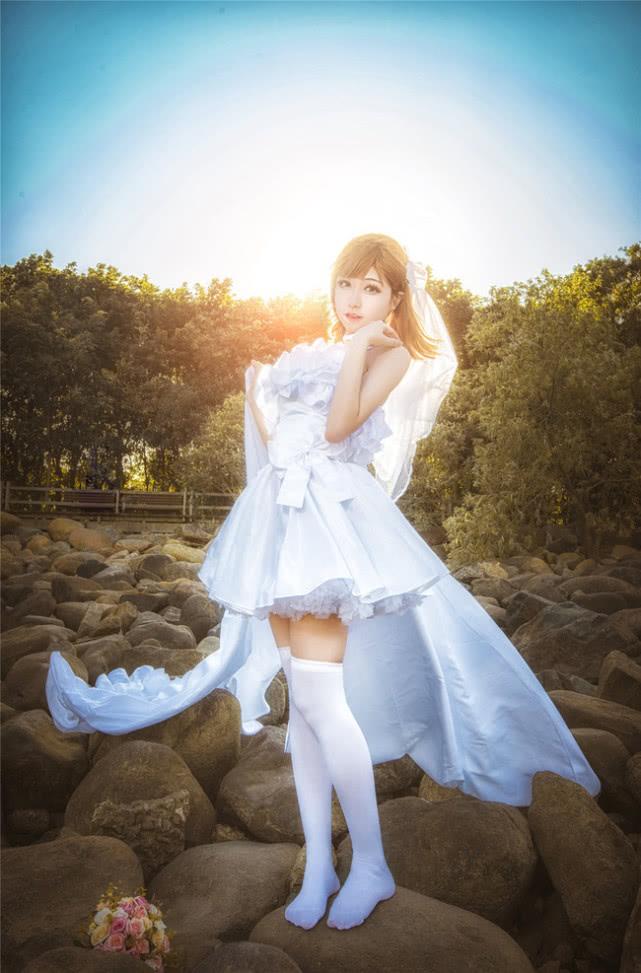 御坂美琴 COS,炮姐赛高,婚纱同人!网友:白丝最美!