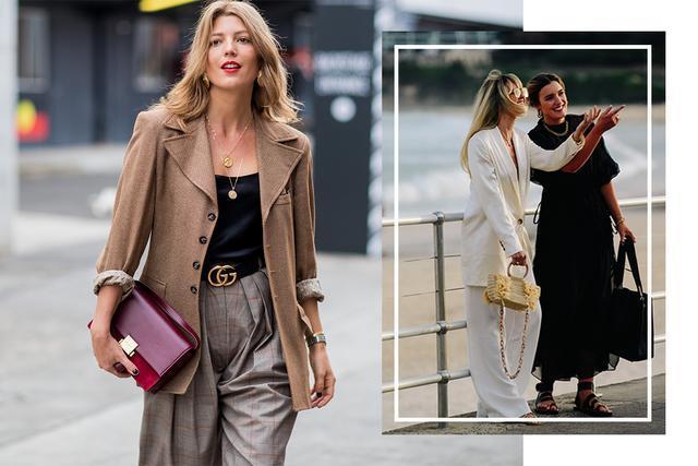 上班以外也要保持知性专业!澳洲时装周街拍尽显今季潮流穿搭