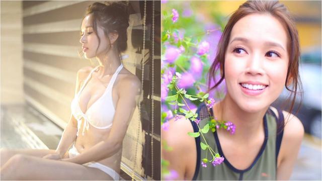 TVB小花性感打扮与工人姐姐逛街购物