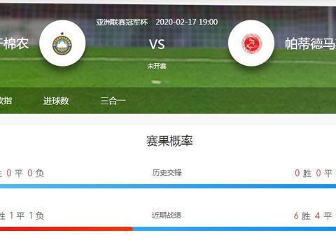 亚冠杯2020-02-17塔什干棉农VS帕蒂德马斯哈德比赛情报分析