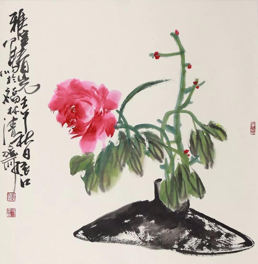 """傅振江国画作品欣赏!被评论界誉为""""中国现代禅宗画第一人""""!"""