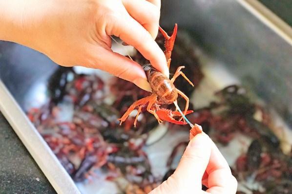 洗小龙虾,别再用刷子了,教你一招,脏东西自动跑光,又快又干净