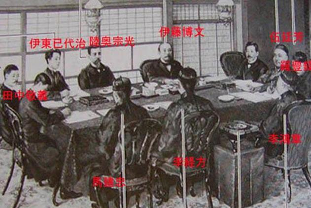 马关条约日本不许满清自称中国签字,李鸿章只好用折中手段