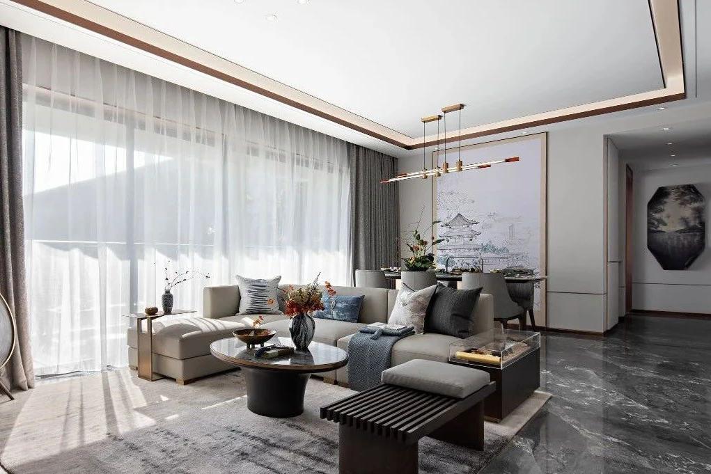 新中式装修,客厅雅奢东方风骨,儿童房最惊艳!