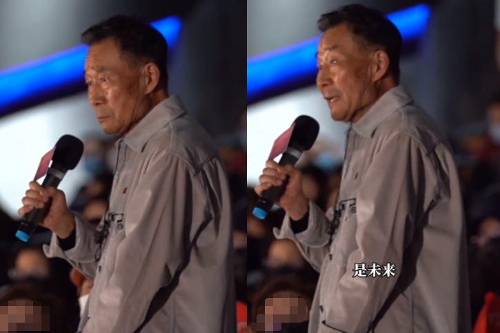 67岁李雪健罕露面!衣着朴素助阵儿子电影,姚晨感动流泪说话哽咽