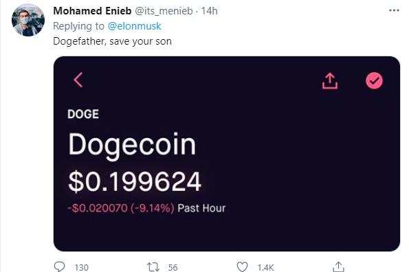 马斯克也救不了狗狗币了,粉丝:dogefather,save your son