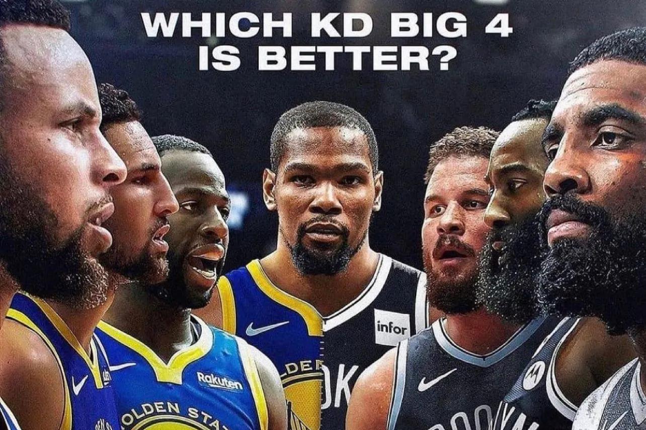 美媒列出了杜兰特带领的勇士四巨头和篮网四巨头,究竟谁更强?