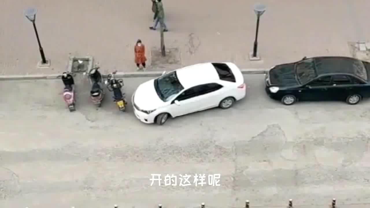 视频:卡罗拉侧方停车真让人着急,路人都看不下去了,女副司机像打酱油