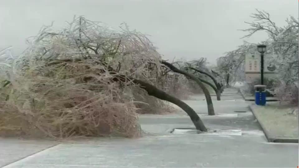 这恶劣的天气连雕像都受不了了!