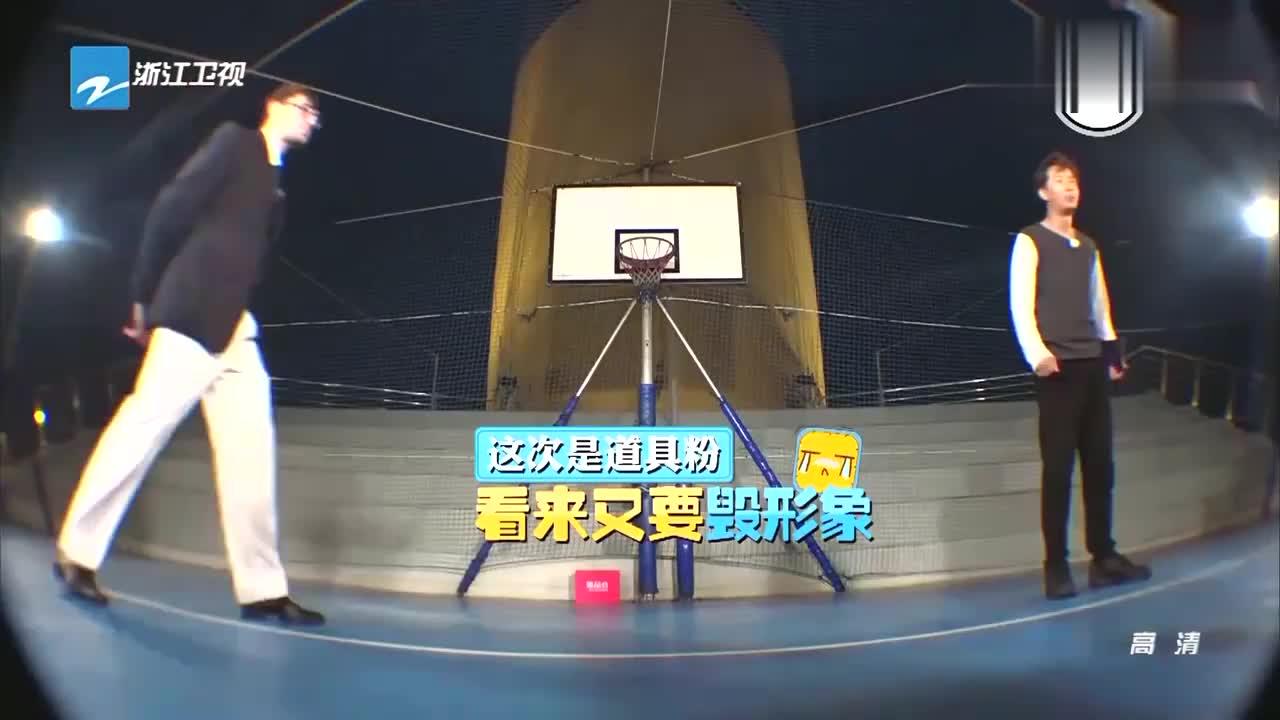 韩庚挑战吹乒乓球,却被道具粉糊了一脸,这画面真是笑到肚子疼