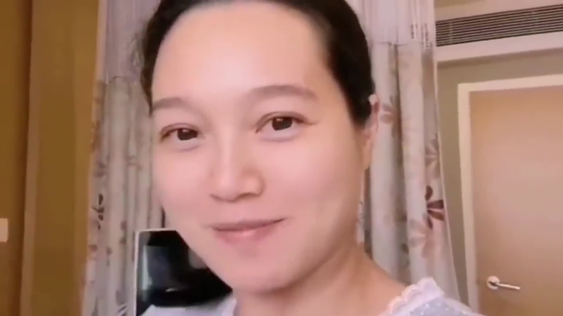 朱丹晒孕期照片, 素颜脸部浮肿, 二胎妈妈太拼了
