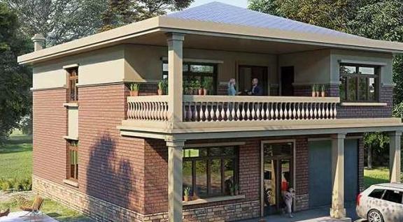 两层带堂屋农村别墅,经济实用,你家不建真是太亏了!