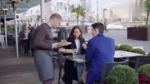 温暖的弦:温暖和总裁英国吃饭,两人菜桌上说笑,介绍美食!