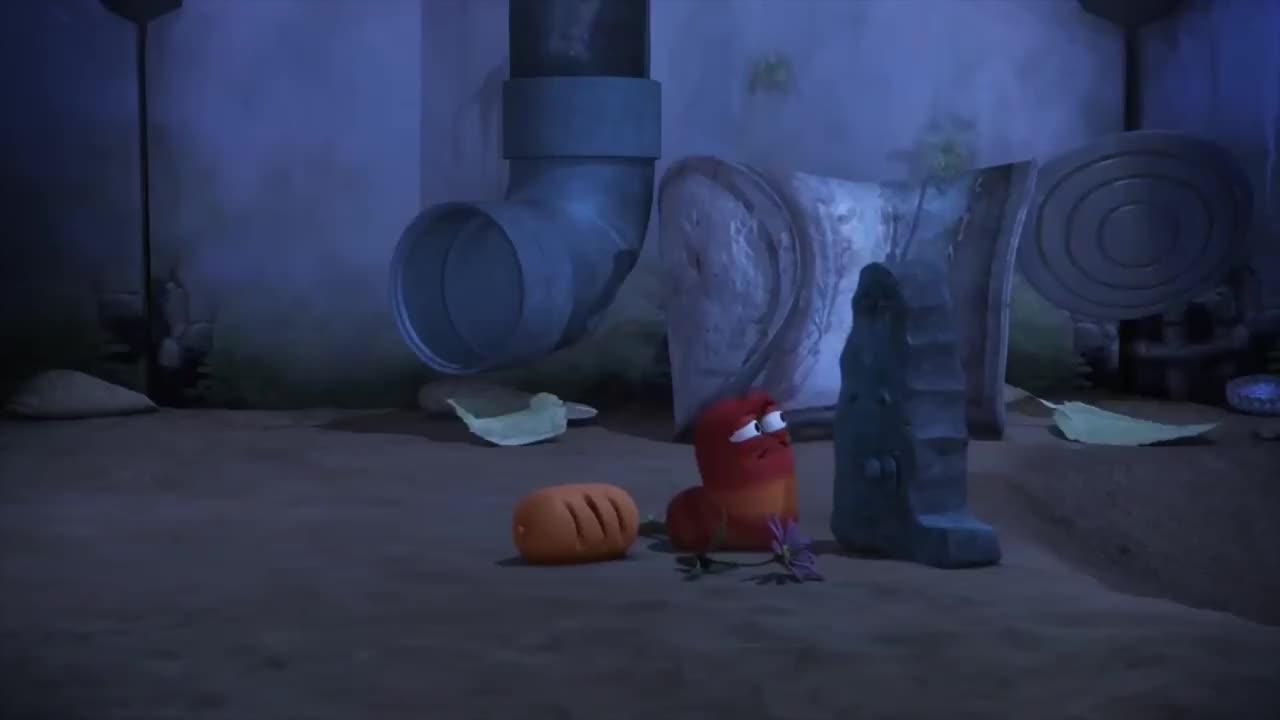 爆笑虫子:小黄小红在沙坑怪兽的肚子里开起了聚会