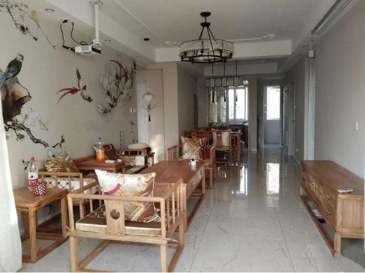 100平三居室的新中式装修,家具也能很时尚,韵味十足的中式空间