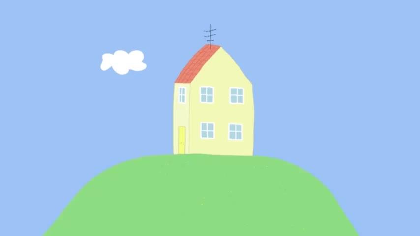 小猪佩奇:斑马苏怡和爸爸工作,给好友佩奇送信,是一封邀请信!