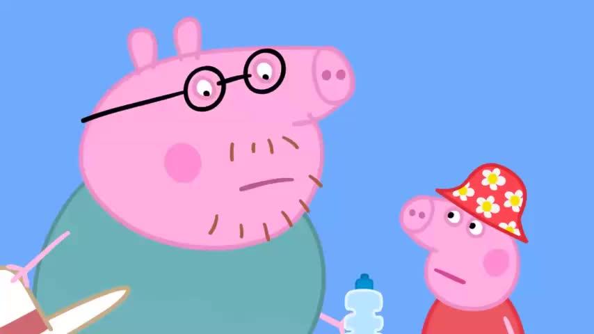 小猪佩奇:澳大利亚传统野餐,袋鼠先生不需要柴火,因为有燃气炉