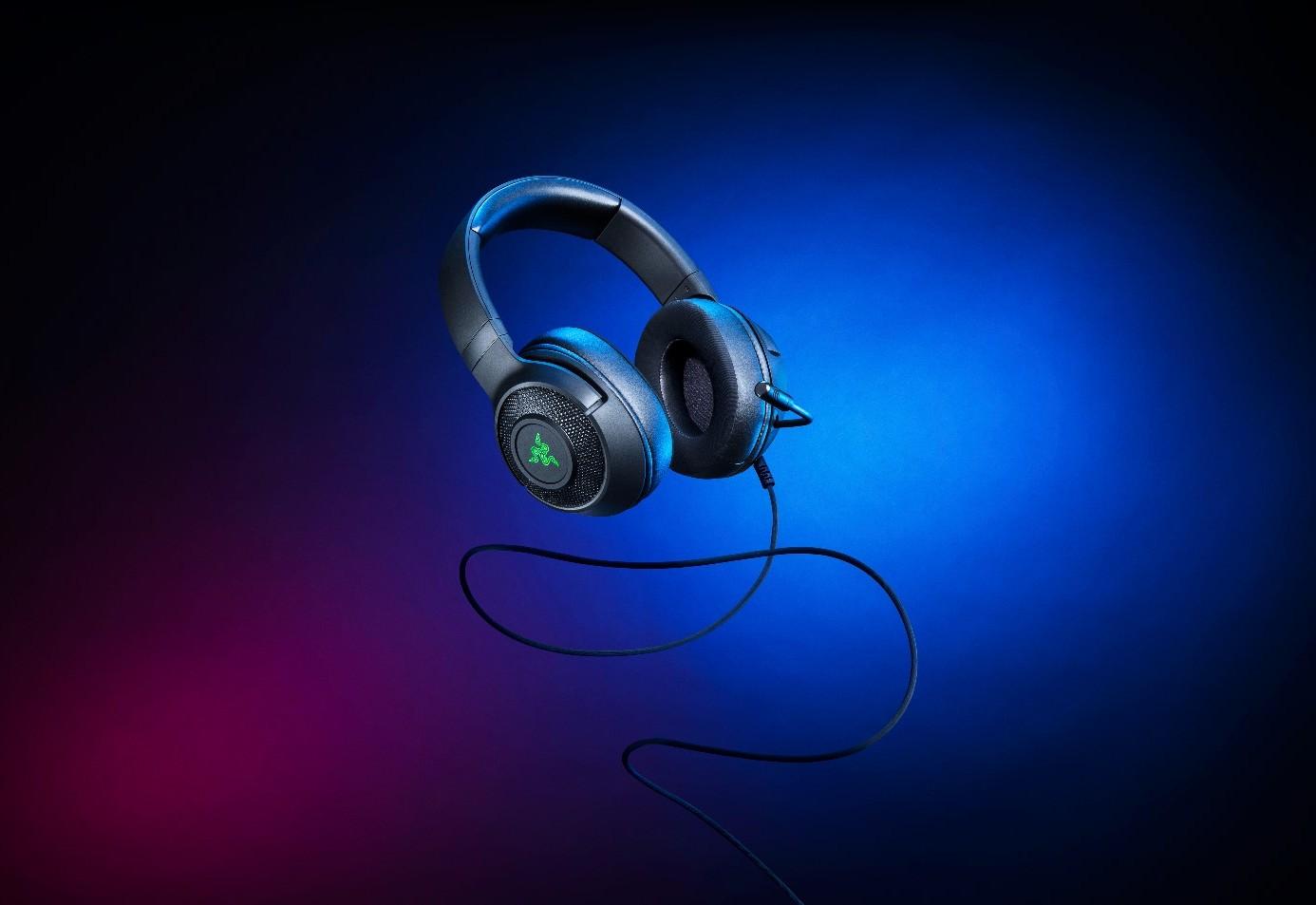 超轻盈舒适感 RAZER发布北海巨妖V3 X游戏耳麦
