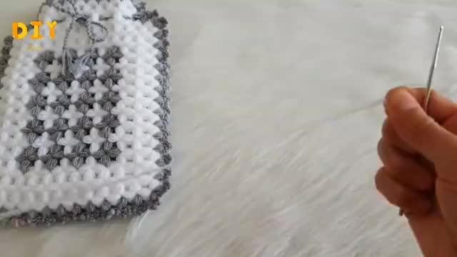 毛线编织教程,热水袋外套的钩织方法!