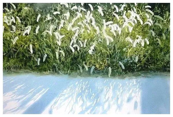 """这些水彩画非常""""夏天"""",仿佛能闻到青草的芳香"""