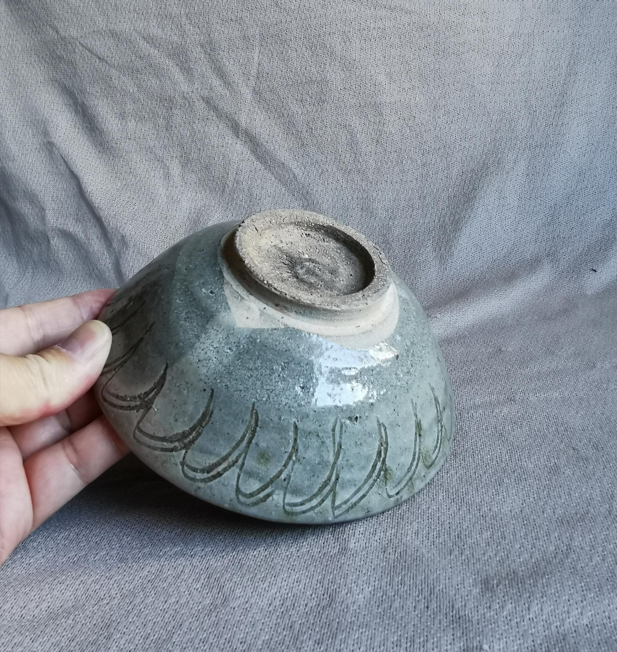 宋元时期青釉莲花纹碗