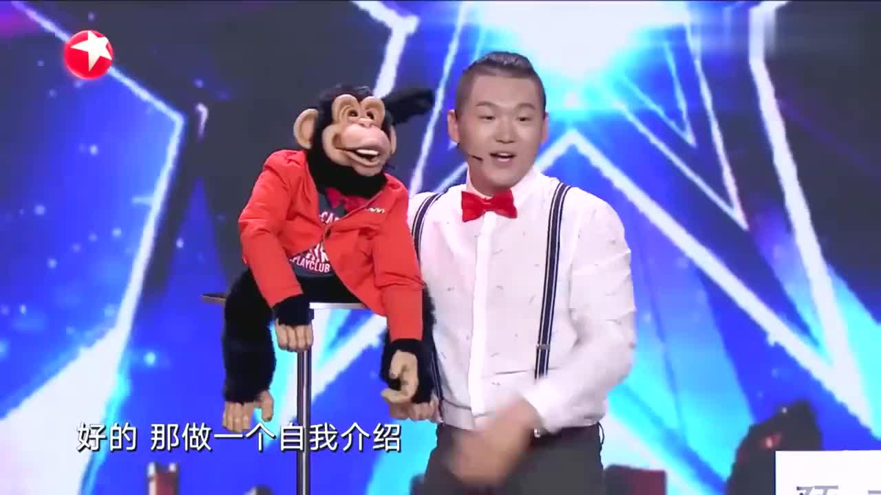 中国达人秀:北京小伙带搭档上达人秀,说腹语相声,引金星惊奇