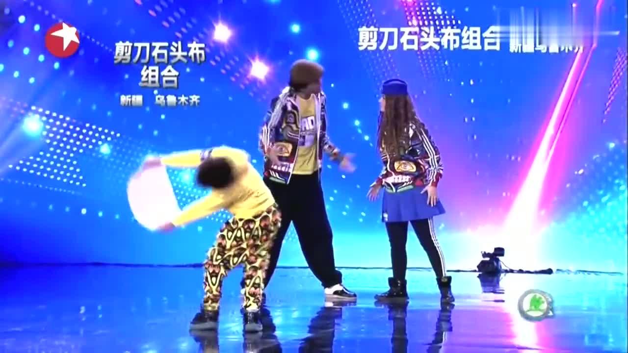 中国达人秀:10岁新疆男孩上达人秀,跳快乐街舞,引苏有朋鼓掌