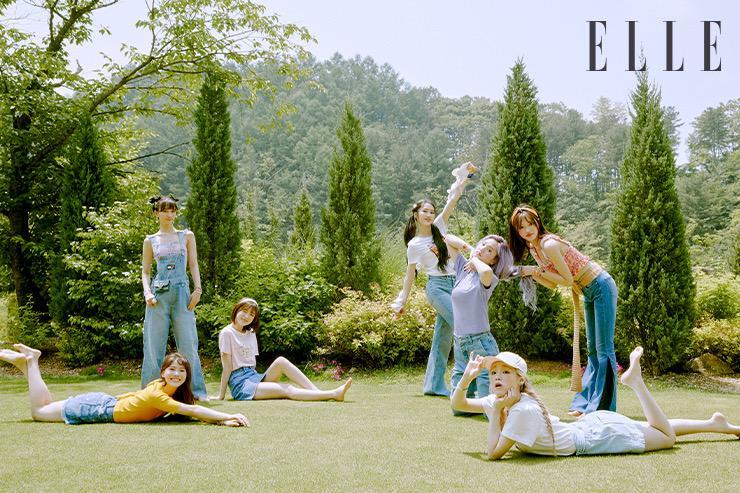 Oh My Girl为《Elle》杂志7月号拍摄的写真集曝光