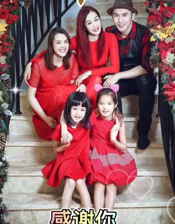 钟丽缇晒全家福为张伦硕庆父亲节,一家五口彼此陪伴