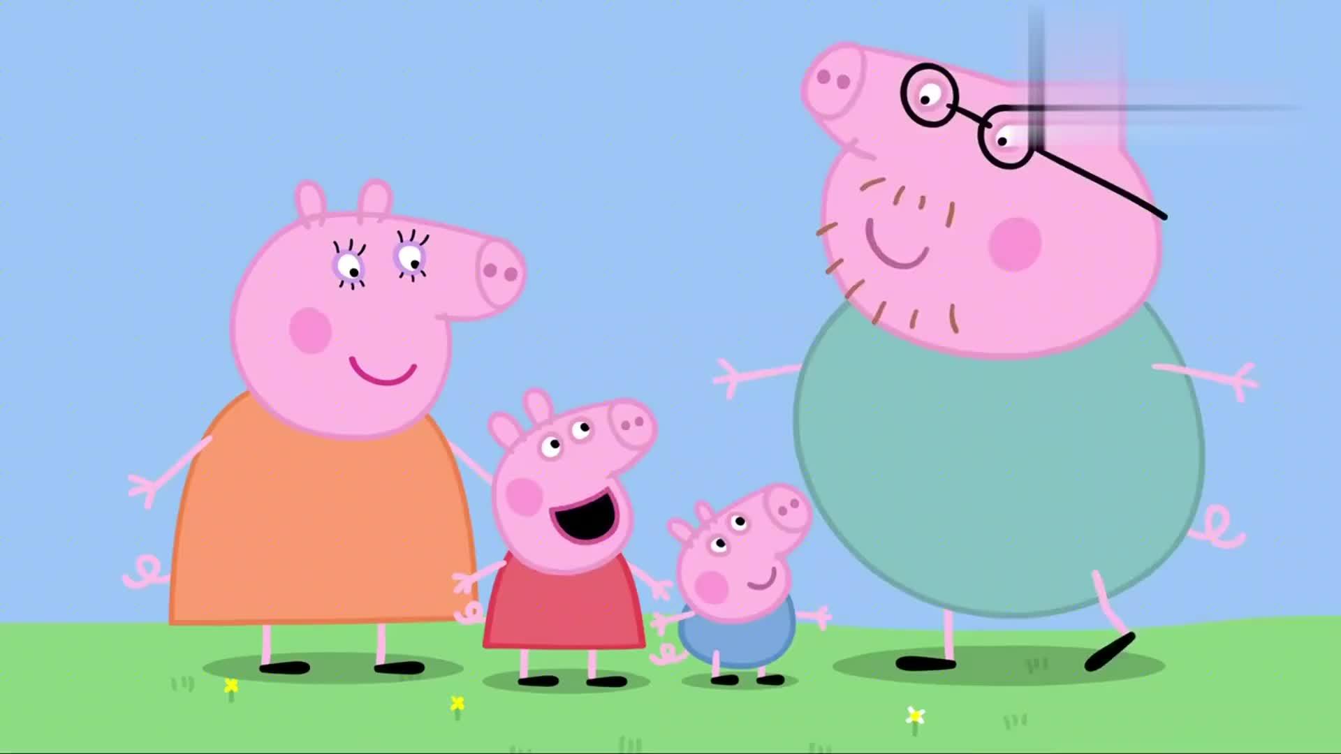 小猪佩奇:乔治还是小孩子,捉迷藏这种益智游戏,当然玩不过佩奇
