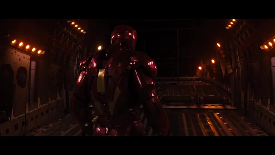 托尼向全世界宣布自己就是钢铁侠,这段从空中飞下来太帅了