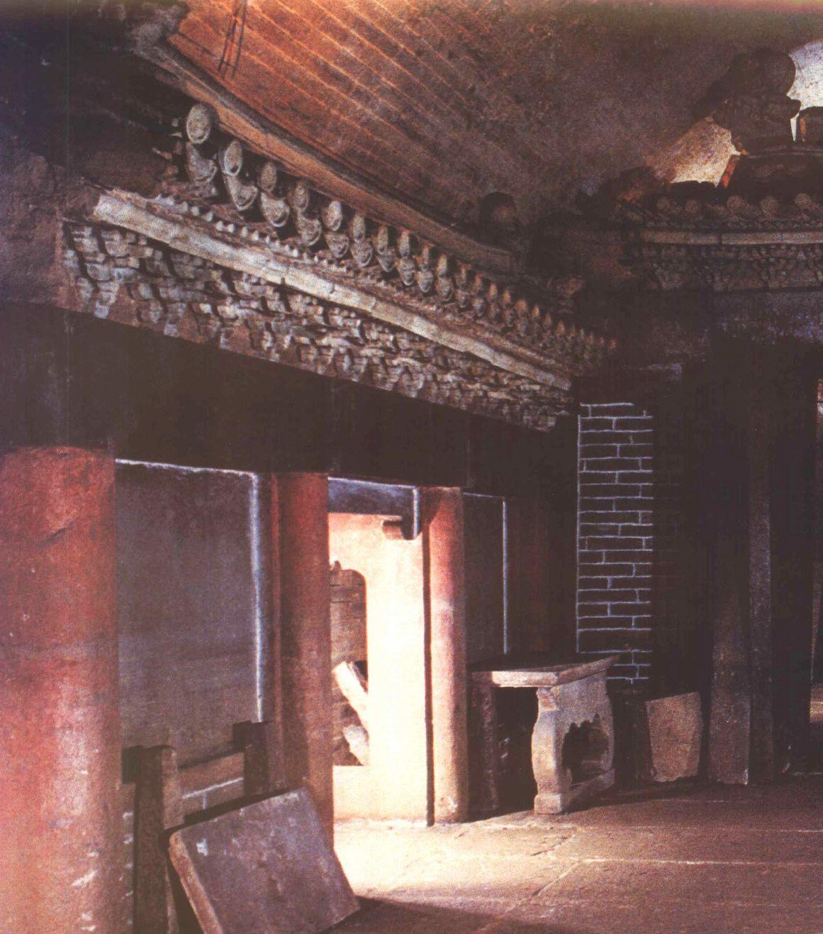 中国建筑艺术,神秘的陵墓文化,蜀僖王坟地宫、斗拱、棺床