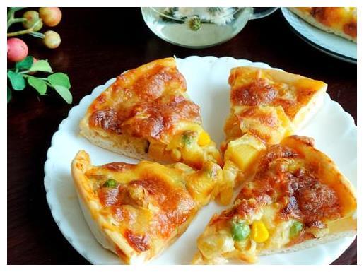 水果披萨,自己在家简单做,20多元做3个,水果满满比买的更好吃