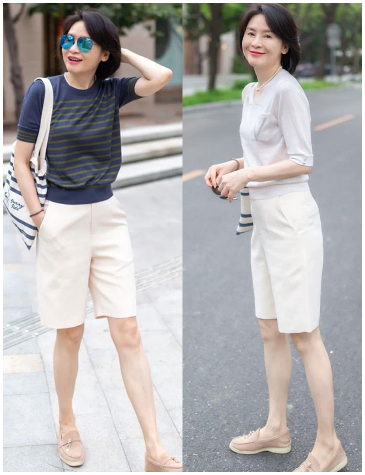 """比阔腿裤更时髦,夏季""""小男孩裤""""这么穿好洋气,年过半百也能穿"""
