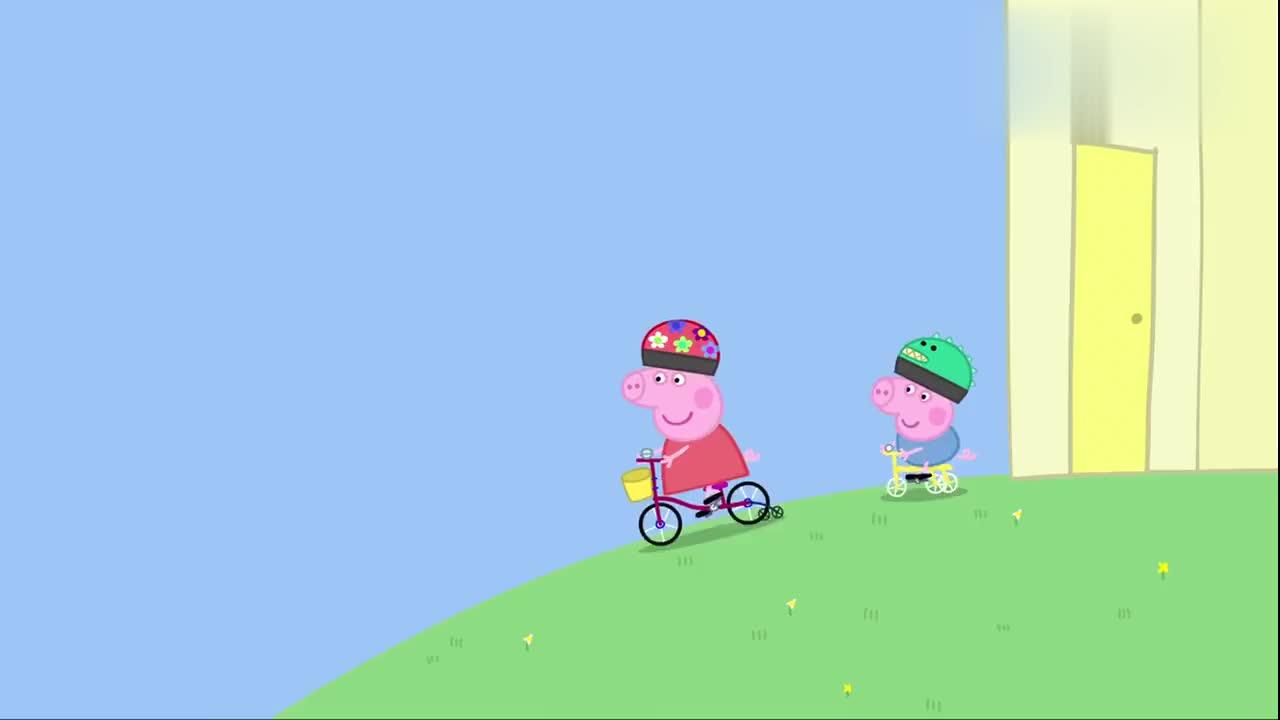 小猪佩奇:佩奇撞坏了爸爸的南瓜,猪爸爸竟没生气,这不科学啊!