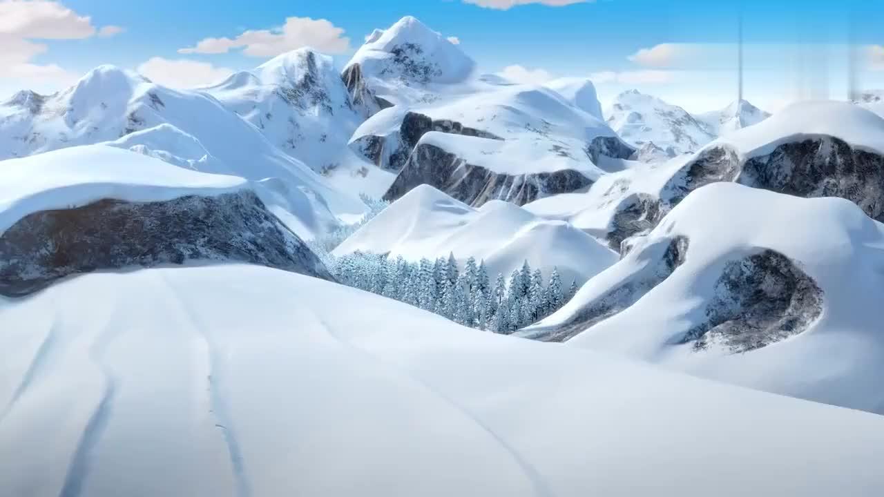 蒙眼的狗熊,挑衅光头强走的慢,不料自己却倒插在雪堆中!