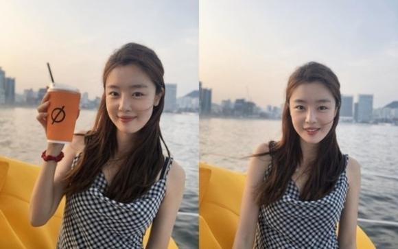 前Secret韩善花公开船上拍摄的清爽近照 展现清纯魅力