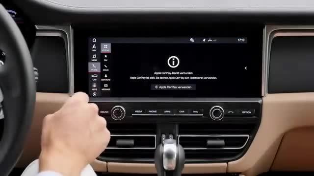 视频:豪华大气的保时捷Macan显示屏反
