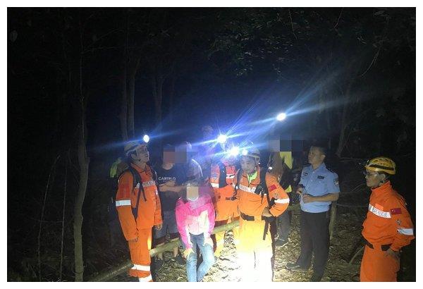 同安森林公园9人被困 厦门北极星救援队紧急救援