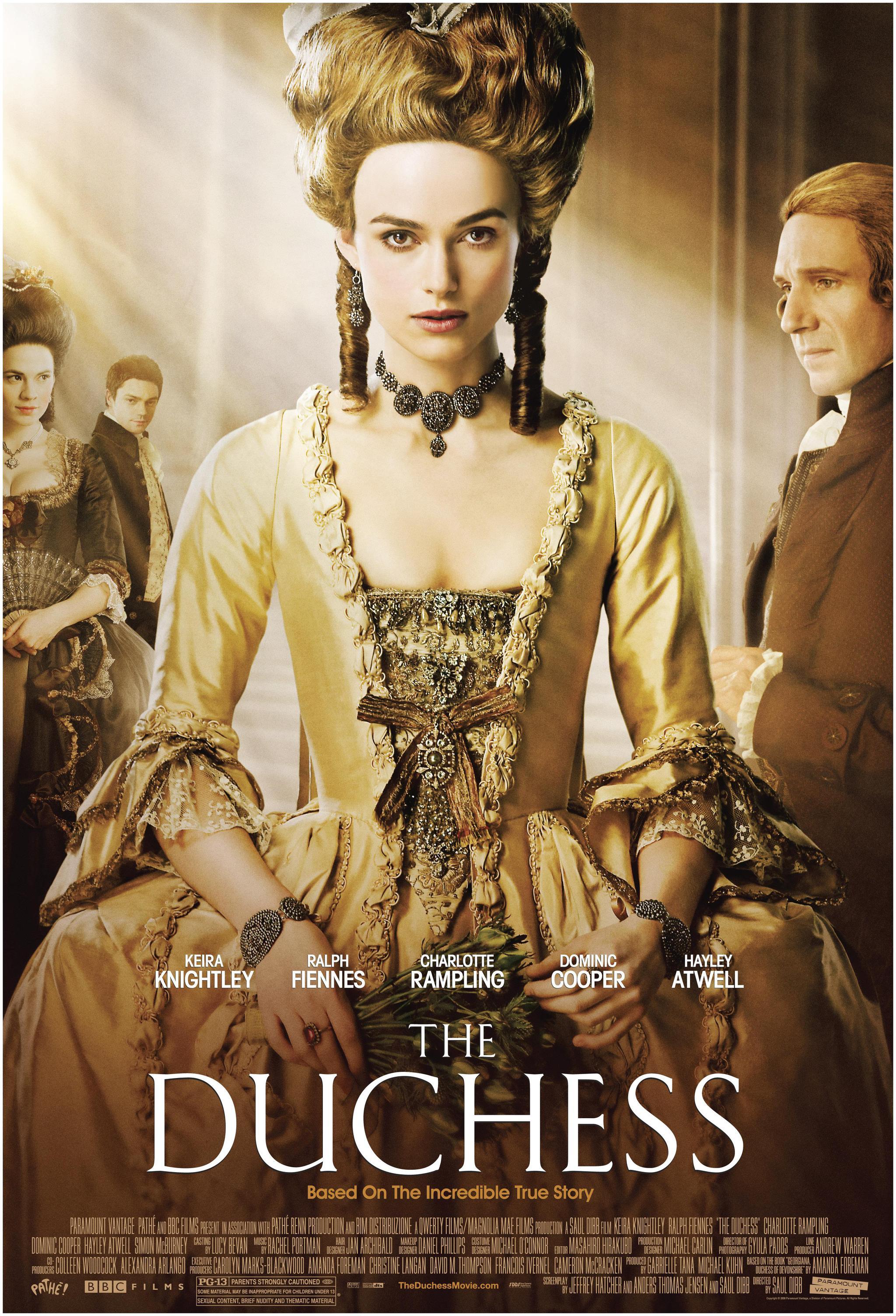 《公爵夫人》:人人艳羡的上流贵妇,竟是囚禁在牢笼里的金丝雀?
