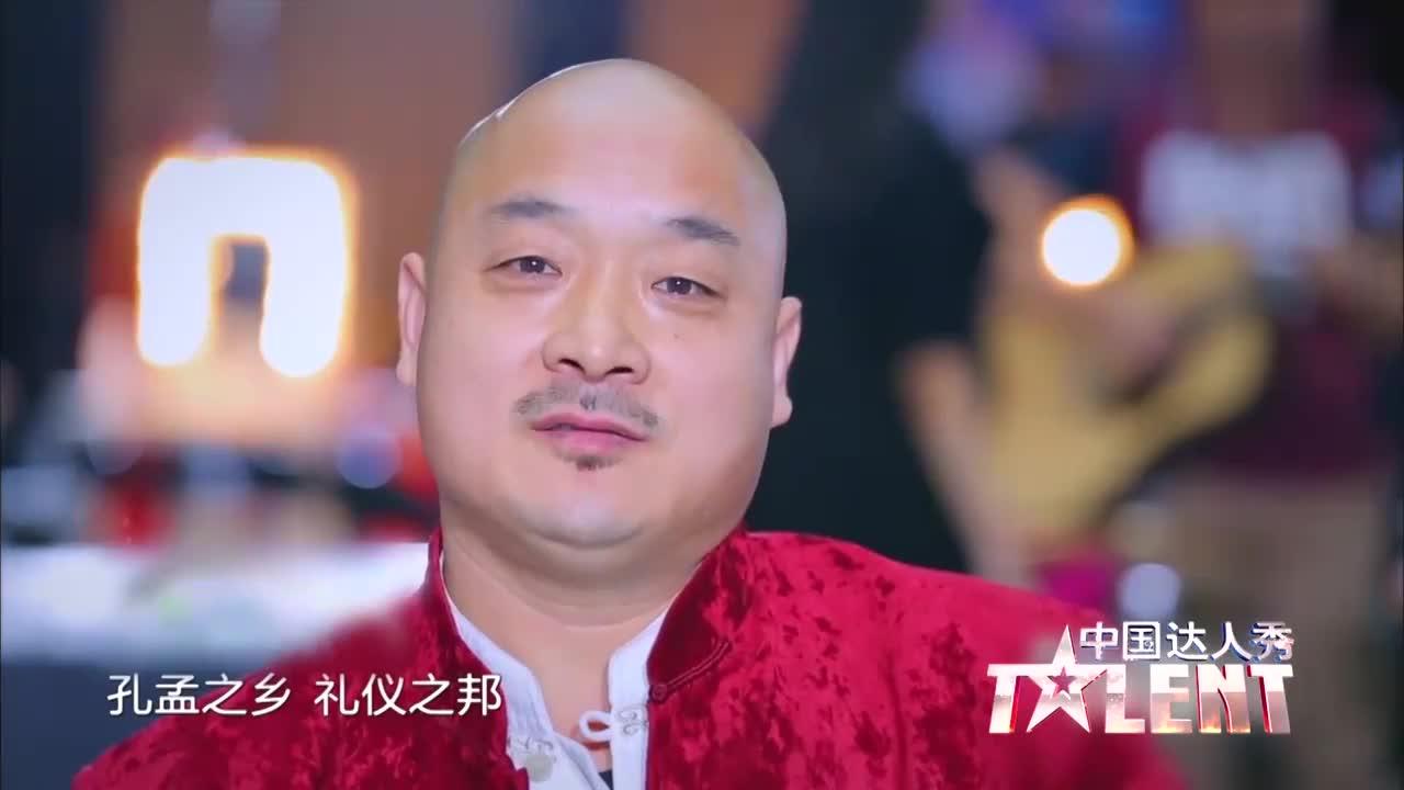 中国达人秀:山东光头大叔表演铁球绝活,刘烨都看呆了!