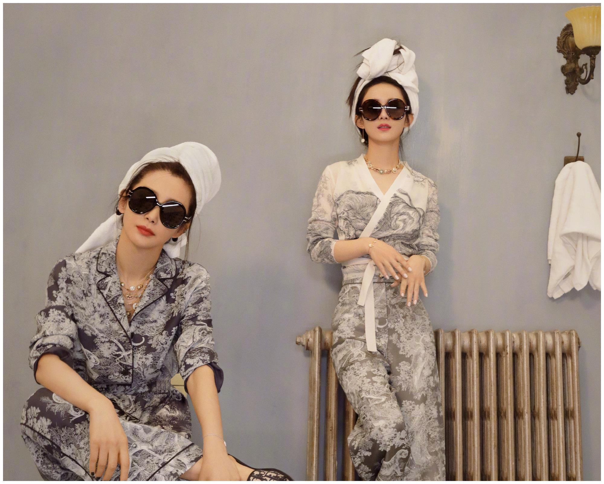 赵丽颖李冰冰合体拍大片,一酷一甜太有范儿,不愧是两位女神