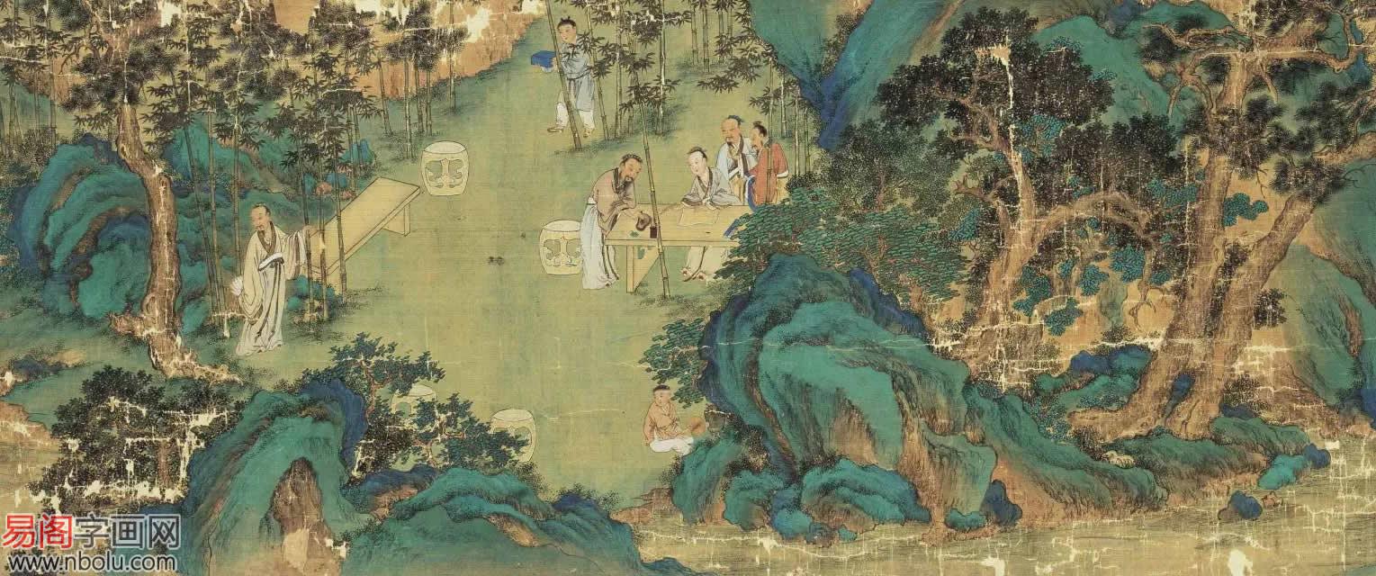 《高逸图》晚唐画家的孙位传世妙笔
