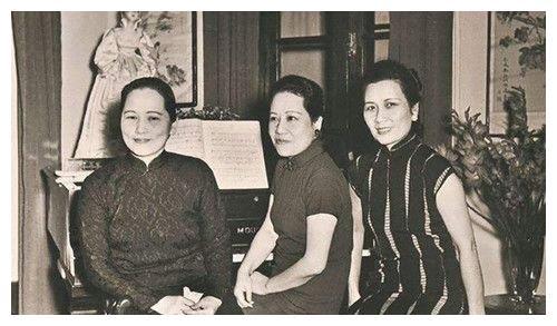 宋氏三姐妹旧照:宋霭龄霸气,宋庆龄端庄,穿婚纱的宋美龄最美